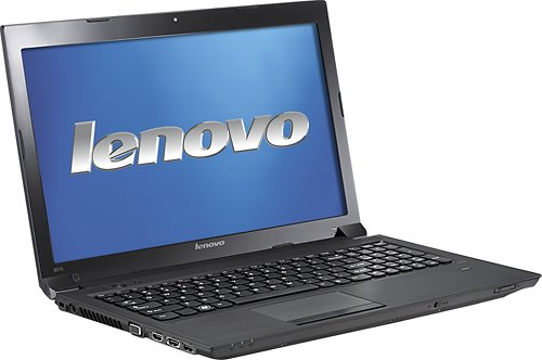 Lenovo B575-1450ALU Laptop Computer / AMD Dual-Core E-450 1.65 GHz Processor / 4GB DDR3 Memory / 15.6-inch Widescreen Display / 320GB Hard Drive / eSATA Port / HDMI / Gigabit Ethernet / 6-Cell Battery / Black / Windows 7 Home Premium