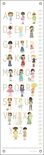 Oopsy Daisy Growth Charts The ABC's of Fashion by Maria Carluccio, 12 by 42-Inch
