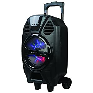 supersonic iqsound wireless bluetooth portable dj speaker system 8 inch high efficiency woofer. Black Bedroom Furniture Sets. Home Design Ideas