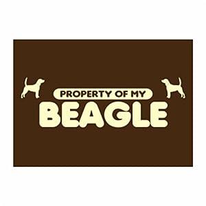 Amazon.com: Teeburon Property of my Beagle Pack of 4 Stickers