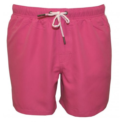 Emporio Armani Intimates Binding Logo Basic Men's Swim Shorts Fuchsia Large