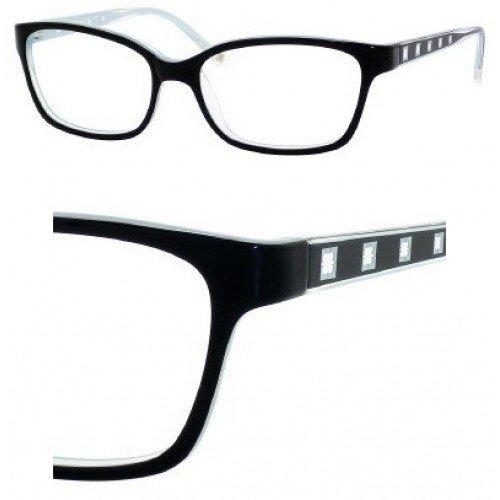 Liz Claiborne 361 Eyeglasses (01S6) Black Blue,