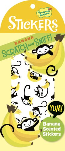 Peaceable Kingdom / Scratch & Sniff Banana Scented Sticker Pack front-718346