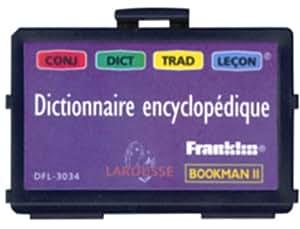 Franklin Larousse Carte Bookman  Dictionnaire encyclopédique Français et traducteur 5 langues 500 000 mots