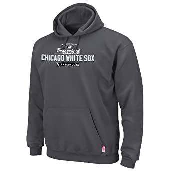 MLB Chicago White Sox Property of Long Sleeve Hooded Fleece Pullover by Majestic