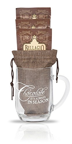 Cutie Cups Chocolate Lover Coffee Mug - Bellagio Cocoa Gift Set, 20 Ounce (Always in Season)