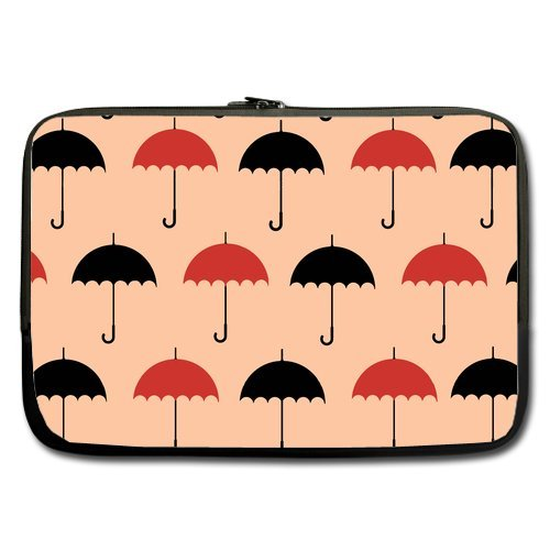 Anhome Cartoon Little Red And Black Umbrella Pink Background Sleeve For Macbook Pro / Sleeve For Laptop / Notebook Computer / Macbook / Macbook Pro / Macbook Air 17'' front-1013611