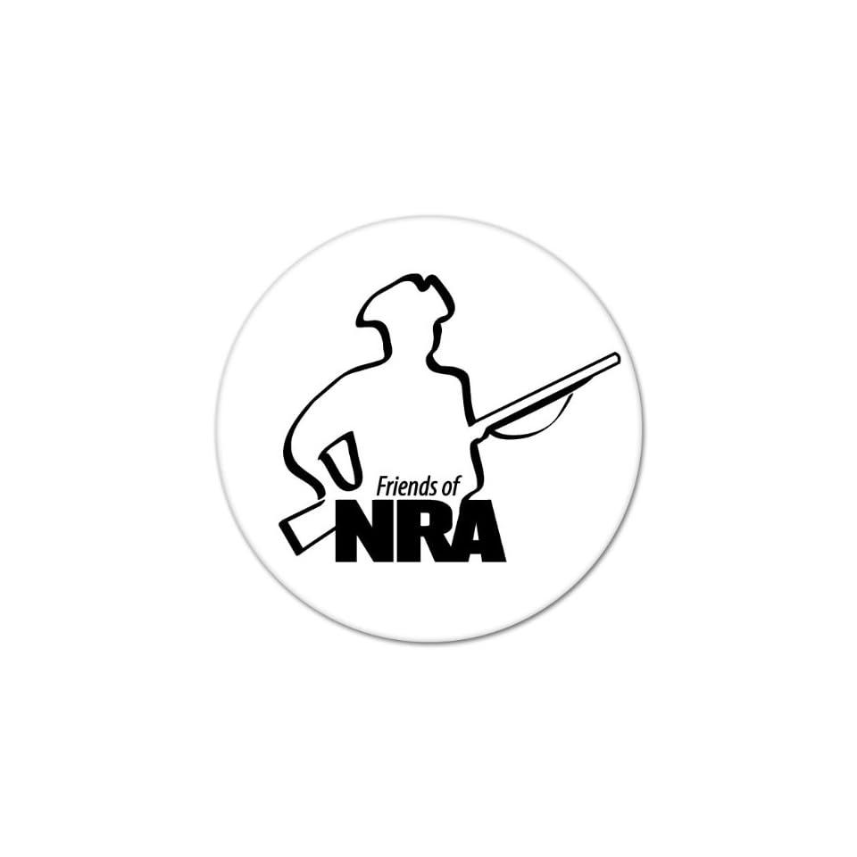 Friends of NRA patriot with gun bumper sticker 4 x 4
