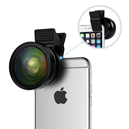 Cell Phone Camera Lens - TURATA 2 in 1 Professional HD Camera Lens Kit Clip-on Fisheye Macro Lens & Wide Angle Lens for iPhone 7/6/6s/6 Plus/6s Plus/SE Samsung Galaxy S7 S7 Edge Smartphone Tablet at Electronic-Readers.com