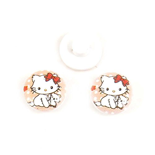 Sewing-Sew-On-Buttons-AZ5D1-Hello-Kitty-Round-for-clothes-in-bulk-wood-Crafts-Boutons