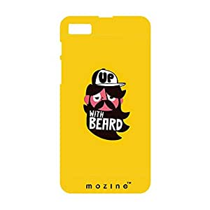 Mozine Up With Beard printed mobile back cover for Blackberry z10