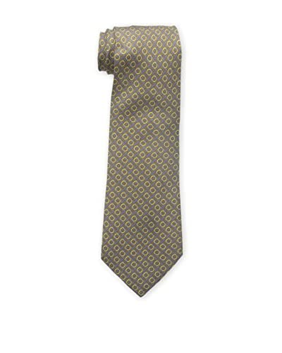 Hermès Men's Pre-Owned Patterned Silk Tie, Grey