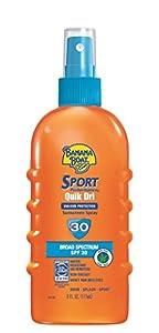 Banana Boat Sport Performance Quik Dri SPF 30 Sunscreen Spray, 6 Ounce
