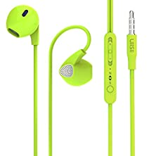 buy Earbuds, Uiisii U1 Earphones With Microphone And Volume Control For Running Travel, Compatible With Iphone 6/6S/6 Plus/6S Plus/Iphone 5/5C/5S, Ipad/Ipod, Smartphones, Samsung, Htc, Mp3/4 (Green)