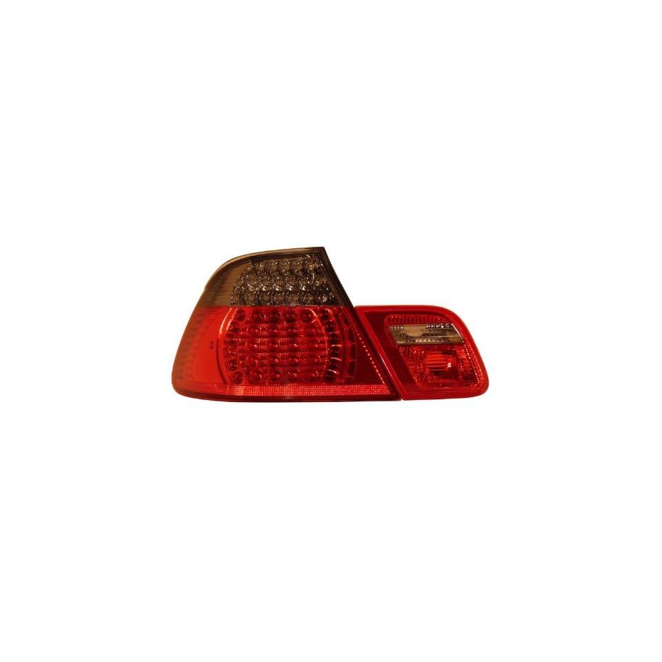 1999 2008 Bmw 3 series E46 Convertible Led Tail Lights Set Red/smoke 4 Pcs