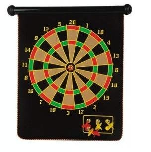 Lowest Price! 15 Magnetic Dart Board Set Hanging Wall Rubber Dartboard
