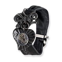 Ladies Vivienne Westwood Heart Black Tied Strap Watch
