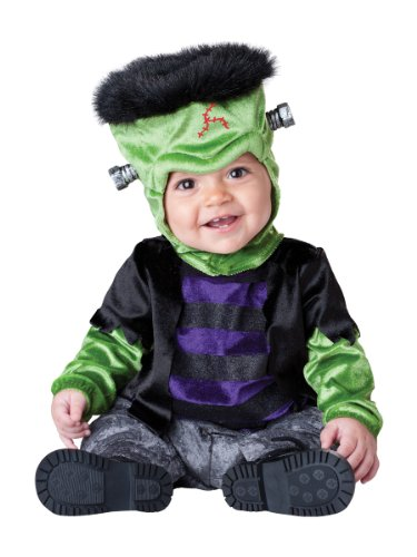 InCharacter Costumes Baby's Monster-Boo Costume, Black/Green, X-Small - 1