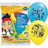 Jake and the Never Land Pirates Party Supplies Colored Helium Balloons 12 6ct