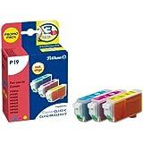 Pelikan P19 Druckerpatronen Promo Pack (kompatibel zu Canon CLI-521M/Y/C, 3 x 9 ml) cyan/magenta/gelb