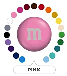 M&M's Light Pink Milk Chocolate Candy 1LB Bag