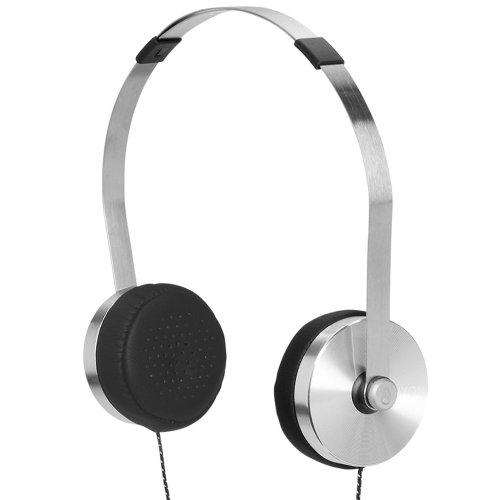 Nixon H106625-00 - Cuffie audio tradizionali Apollo con microfono a 3 ingressi, 112 dB, Jack da 3.5 mm, colore: d'argento