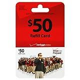 Verizon $50 ToGo Prepaid Refill Card (mail delivery)