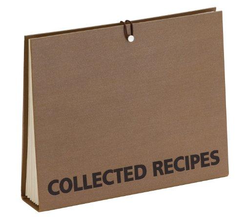 Meadowsweet Kitchens Meadowsweet Kitchens Accordion File Recipe Organizer Brown