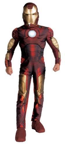 Kids Iron Man Light Up Muscle Costume