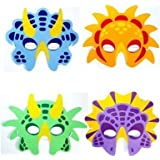 6 dinosaur face masks eva certified party bag fillers