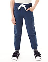 Limited Pure Cotton Cuffed Pocket Joggers with Stay New™