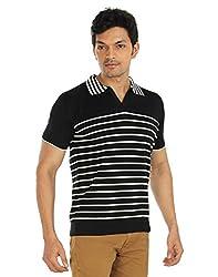 Silver Spring Black Super Combed Cotton T Shirt _ RVD004_L