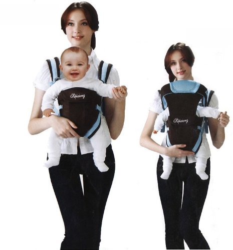 Happy Bear Baby Carrier #3006, Blue front-878974