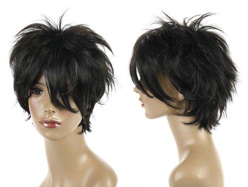 Cosplayland C430 - Reborn Hibari short layered black as real human hair Wig