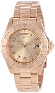 "Invicta Womens 15250 ""Pro Diver"" 18k Rose Gold Ion-Plated Stainless Steel Watch"