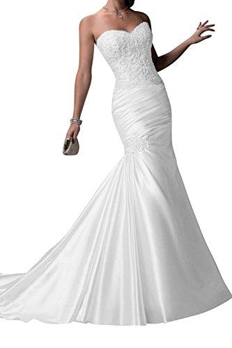 KissBridal Women's White Long Wedding Dresses Mermaid Bridal Dresses 2015 домкрат белак бак 10044 8т