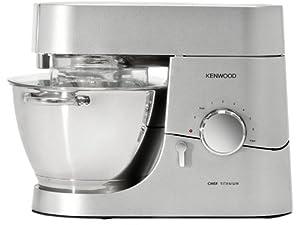 Kenwood KMC 010 Küchenmaschine Chef (1400 Watt, Füllmenge 4,6 l, Glas-Mixaufsatz) silber