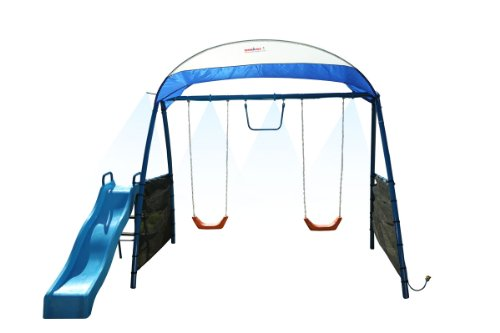 Ironkids Challenge 150 Refreshing Mist Swing Set With Uv Protective Sunshade front-953011