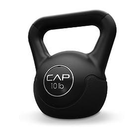 Cap Barbell Fitness Kettlebell Black, 10-Pound