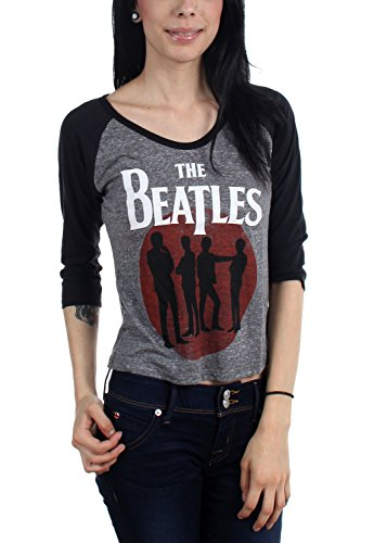 The Beatles - Donna silhouette Raglan Grey X-Large