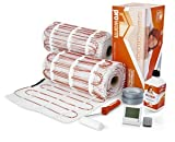 Prowarm Electric Underfloor Heating 200W Mat Kit 18.0M2 - Includes ProWarm Remote White Thermostat