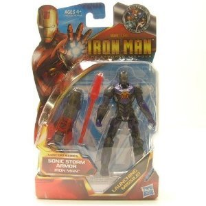 Iron Man 2 Concept 4 Inch Action Figure #45 Iron Man Sonic Storm Armor - 1