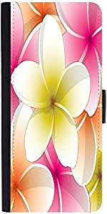 Snoogg All Purpose Bright Frangipani Card In Vector Format Designer Protective Phone Flip Case Cover For Apple Iphone 6S