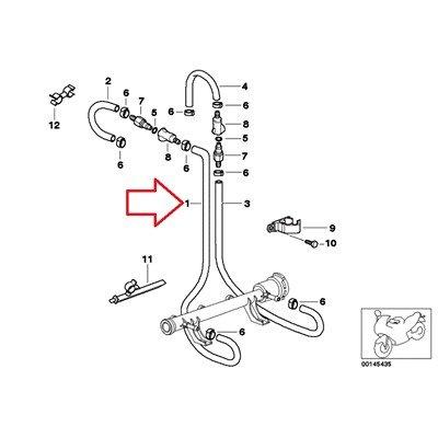 Bmw Genuine Fuel Pipe Inlet Fuel Hose K1200Rs K1200Gt K1200Rs