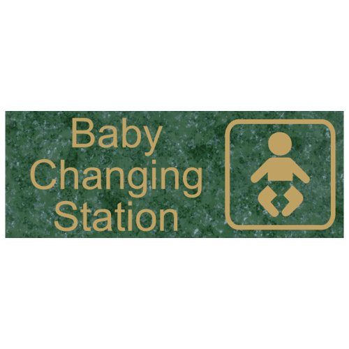 Compliancesigns Engraved Plastic Unisex / Family / Assisted Sign With Symbol, 8 X 3 Verde front-127417