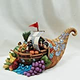 Enesco Jim Shore Heartwood Creek Cornucopia with Mayflower Figurine, 6-1/2-Inch 4027800 Picture