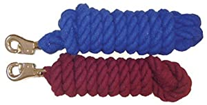"Valhoma Lead Cotton 3/4"" x 10' Rope w/ Bolt, Color: Burgundy"