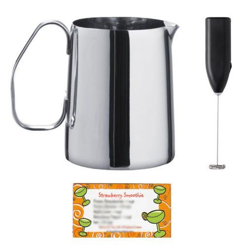 Ikea Milk Frother and 17 Ounce Milk-frothing Jug, Stainless Steel (Metal Steamer Pitcher compare prices)