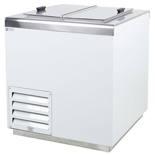 Excellence Hff-4 Stainless Steel Ice Cream Dipping Cabinet Freezer - 7.9 Cu. Ft front-623457
