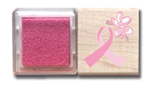 Hampton Art Think Pink Set, Rubber Stamp and Pad